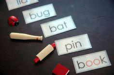 Bandeja montessori, haz click en la imagen para acceder al Pinterest de Heather L.