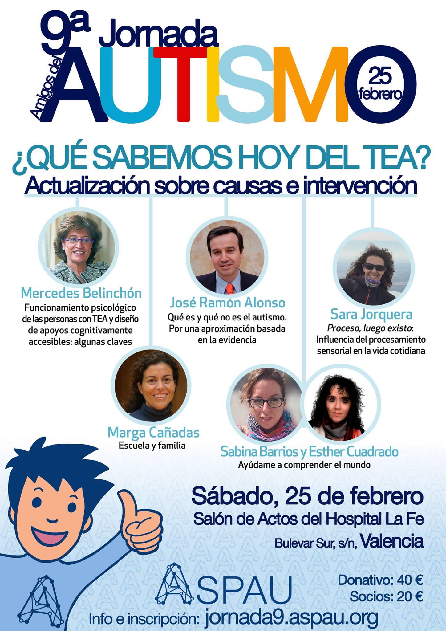 9ª Jornada de ASPAU ¿Qué sabemos hoy del TEA? @ Hospital La Fe   Valencia   Comunidad Valenciana