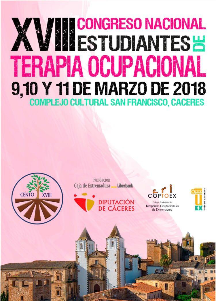 XVIII Congreso Nacional de Estudiantes de Terapia Ocupacional @ Complejo cultural San Francisco | Cáceres | Extremadura | España