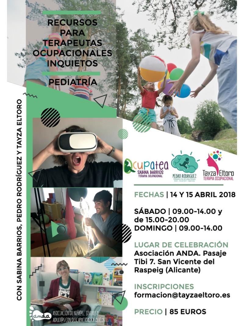 Curso Recursos para Terapeutas Ocupacionales Inquietos - Pediatría @ Asociación ANDA | San Vicente del Raspeig | Comunidad Valenciana | España